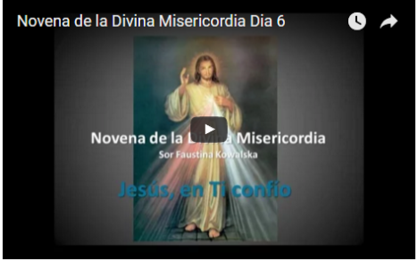 Novena de la Divina Misericordia Dia 6