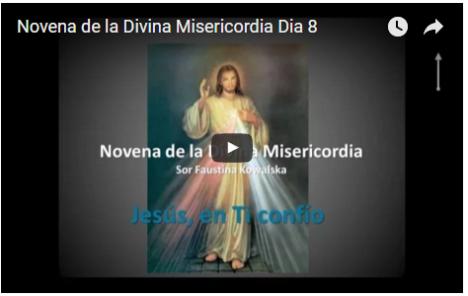 Novena de la Divina Misericordia Dia 8